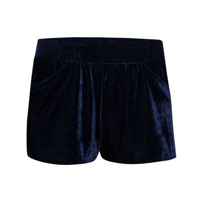 short velvet azul