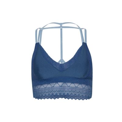 top lace azul